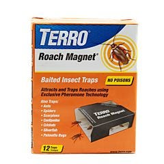 TERRO® Roach Magnet Trap With Exclusive Pheromone Technology 12-Traps